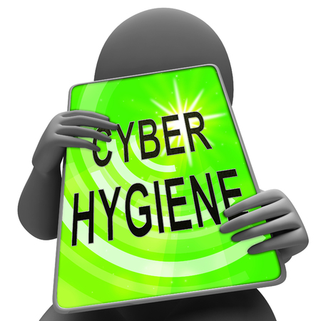 Cyber Hygiene Healthy Data Structure 3d Rendering Shows Internet Management And Diagnostics For Cleaning Networks