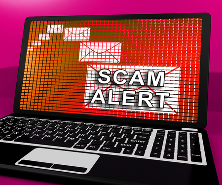 Malicious Emails Spam Malware Alert 3d Rendering Shows Suspicious Electronic Mail Virus Warning And Vulnerability