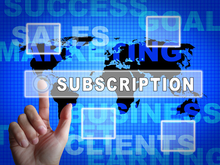 Subscription Fee Plan Registration Price 3d Illustration Means Charges For Monthly Purchase Or Newsletter Membership Фото со стока