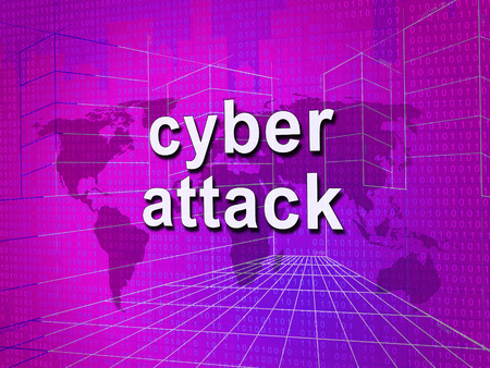 Cyberattack Malicious Cyber Hack Attack 3d Illustration Shows Internet Spyware Hacker Warning Against Virtual Virus Stock Photo