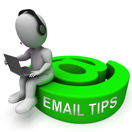 Email Tips Online Postal Solution 3d Rendering Shows Suggestions And Tricks For Marketing Using Electronic Mail