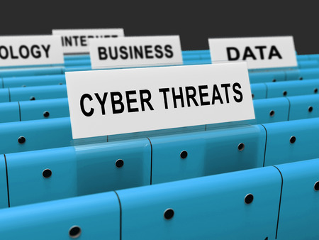 Cyber Threat Intelligence Online Protection 3d Rendering Shows Online Malware Protection Against Ransomware Scams And Risks Stock Photo - 104936870