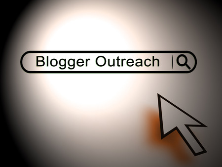Blogger Outreach Influencer Engagement Content 2d Illustration Shows The Blog Marketing Process Of Social Media Influence