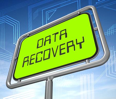 Data Recovery Software Bigdata Restoring 3d Illustration Shows Rebuild Of Network Or Server After Storage Disaster