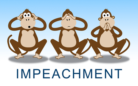 Impeachment Monkeys To Impeach Corrupt President Or Politician. Demonstration Against Government For Legal Removal Stock fotó