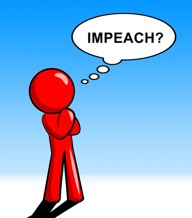 Impeach Question To Remove Corrupt President Or Politician. Legal Indictment In Politics.