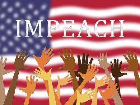 Impeach Revolution To Remove Corrupt President Or Politician. Legal Indictment In Politics.