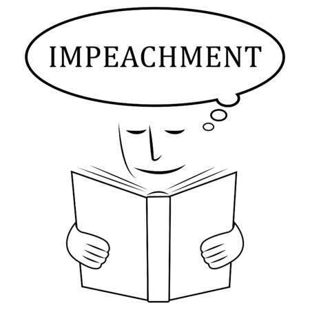 Impeach Rules Book To Remove Corrupt President Or Politician. Legal Indictment In Politics. Stock fotó