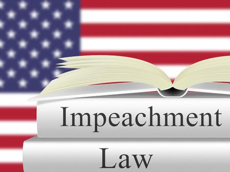Impeachment Law Books To Remove Corrupt President Or Politician. Legal Indictment In Politics. Stock fotó