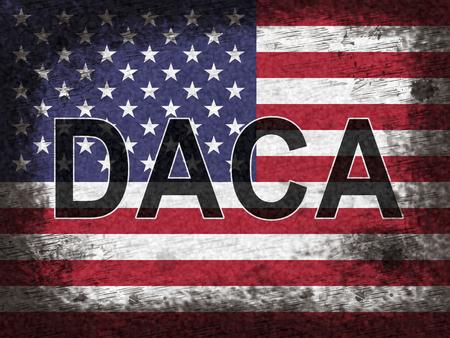 Daca Kids Dreamer Legislation Flag For Us Immigration. Passport For Immigrant Children In The United States - 2d Illustration Stok Fotoğraf