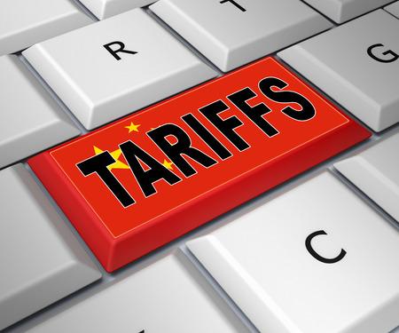 Handelszölle als Zahlung und Strafe. Usa Finance Economy Trading Besteuerung - 3D-Darstellung