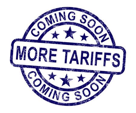 Handelszölle als Abgabe und Strafe. Usa Finance Economy Trading Besteuerung - 2D-Darstellung