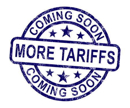 Trade Tariffs As Levy And Penalty. Usa Finance Economy Trading Taxation - 2d Illustration