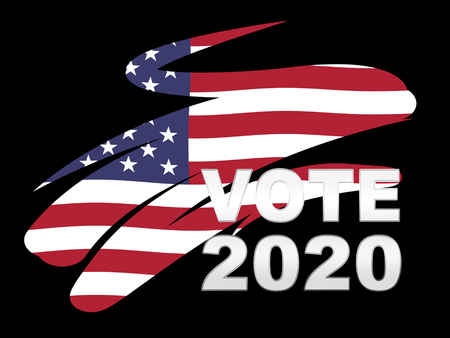 2020 Election Usa Presidential Vote For Candidates. United States Political Referendum Campaign - 2d Illustration 免版税图像 - 115177197
