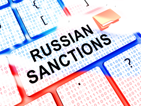 Russia Sanctions Monetary Embargo On The Russian Federation.  3d Illustration