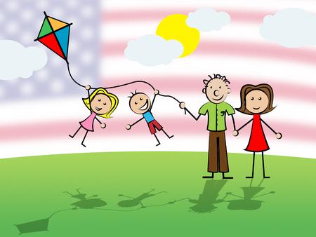 Daca Kids Dreamer Législation pour nous Immigration. Passeport pour les enfants immigrants aux États-Unis - Illustration 2d
