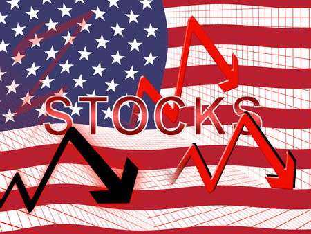 Stock Market Global Funds Fail And Financial Investment. Economic Market And Finance - 3d Illustration