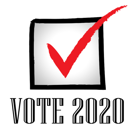 2020 Elections Usa Presidential Vote For Candidates. United States Political Referendum Campaign - 2d Illustration