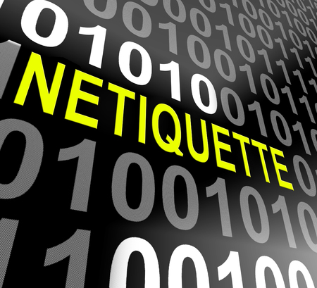 Netiquette Polite Online Behavoir Or Web Etiquette. Civility Protocol On Networks And Tech - 3d Illustration Banque d'images - 115144853