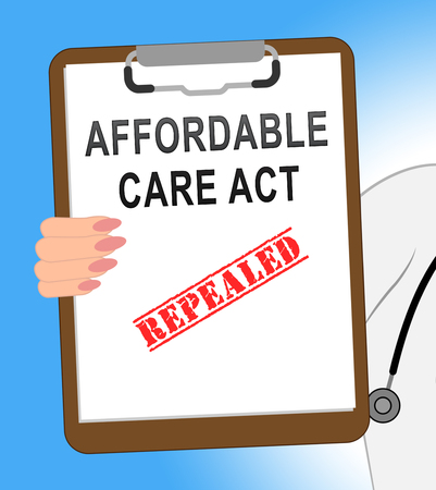 Repeal Or Replace Aca Affordable Care Act Health Care. United States Medical Healthcare Scheme Replaced - 3d Illustration Stock Photo