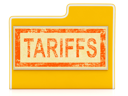 Trade Tariffs On China As Duty And Penalty. Usa Finance Economy Trading Taxation - 3d Illustration