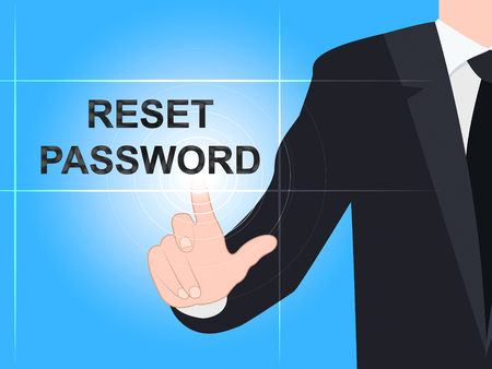Reset Password Pressed To Redo Security Of PC. New Code For Securing Computer - 3d Illustration