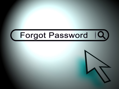 Forgot Password Search Shows Login Authentication Invalid. remember Login Security Verification - 3d Illustration