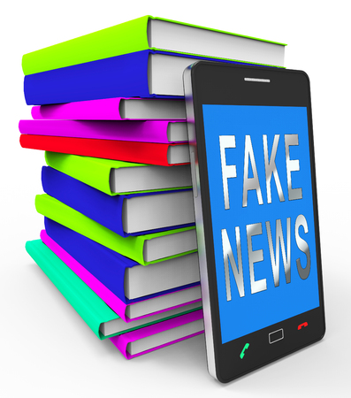 Fake News Phone Shows Misinformation On Social Media. False Information And Propaganda - 3d Illustration