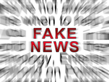 Fake News Online Means Disinformation And Lies. Hoax Information In Politics And Media - 3d Illustration