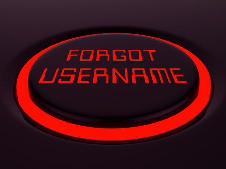 Forgot Username Button Means Wrong Userid Entered. Online Access Id Security Error - 3d Illustration Stock Photo
