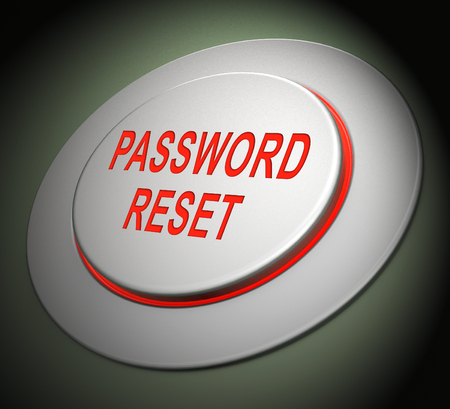 Reset Password Button To Redo Security Of PC. New Code For Securing Computer - 3d Illustration Archivio Fotografico - 116117225