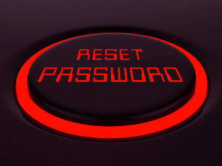Reset Password Button To Redo Security Of PC. New Code For Securing Computer - 3d Illustration Archivio Fotografico - 116117431