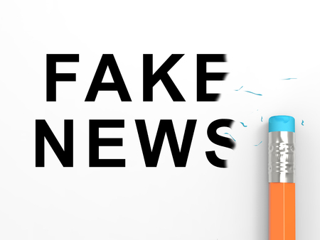 Fake News Newspaper Depicts Media Hoax And Misinformation. Lies In Journalism And False Facts - 3d Illustration
