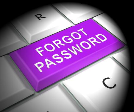 Forgot Password Key Shows Login Authentication Invalid. remember Login Security Verification - 3d Illustration