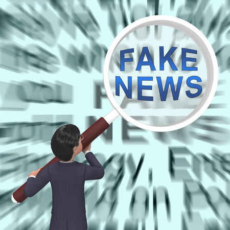 Fake News Newspaper Means Media Hoax And Misinformation. Lies In Journalism And False Facts - 3d Illustration