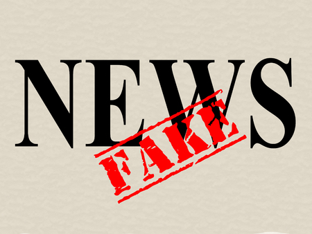 Fake News Icon Word Means Misinformation Or Disinformation. Online Hoax Or Misleading Information  - 3d Illustration