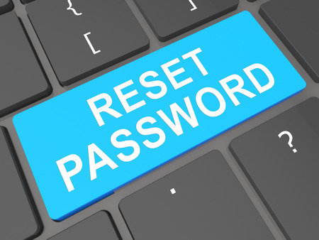 Reset Password Key To Redo Security Of PC. New Code For Securing Computer - 3d Illustration