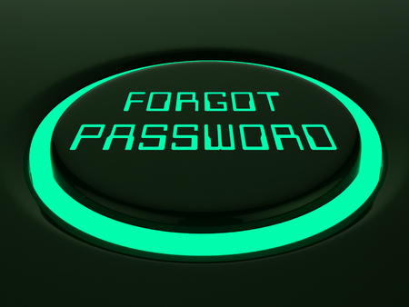 Forgot Password Button Shows Login Authentication Invalid. remember Login Security Verification - 3d Illustration