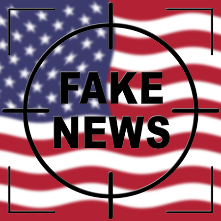 Fake News Icon Target Means Misinformation Or Disinformation. Online Hoax Or Misleading Information  - 3d Illustration