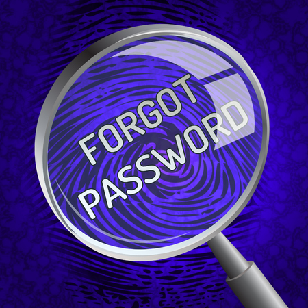 Forgot Password Magnifier Shows Login Authentication Invalid. remember Login Security Verification - 3d Illustration