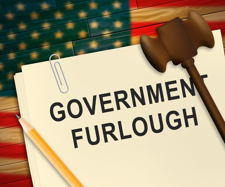 Government Furlough Letter Means Layoff For Federal Workers. National Shutdown From Washington - 3d Illustration