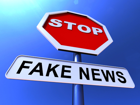 Fake News Icon Sign Means Misinformation Or Disinformation. Online Hoax Or Misleading Information  - 3d Illustration Banque d'images - 116118313