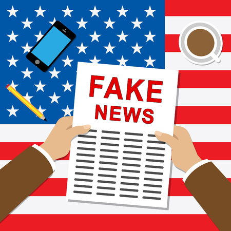 Fake News Newspaper Shows Media Hoax And Misinformation. Lies In Journalism And False Facts - 3d Illustration