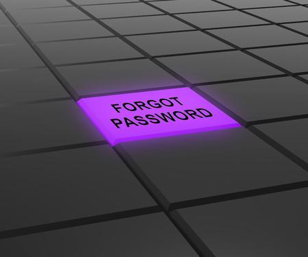 Forgot Password Light Shows Login Authentication Invalid. remember Login Security Verification - 3d Illustration