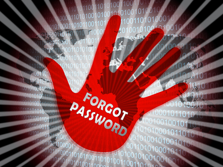 Forgot Password Hand Shows Login Authentication Invalid. remember Login Security Verification - 3d Illustration Stock Photo
