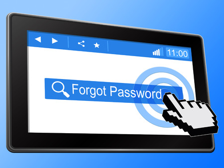 Forgot Password Phone Shows Login Authentication Invalid. remember Login Security Verification - 3d Illustration