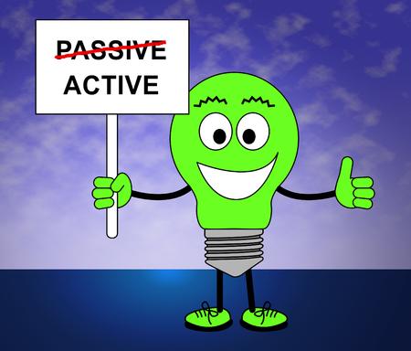 Active Versus Passive Man Represents Proactive Strategy Or Lazy Passive Concept 3d Illustration Banco de Imagens
