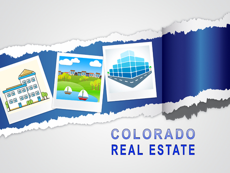 Colorado Real Estate Image Represents Buying Property In Denver United States. Ownership Renting Or Investment Purchase - 3d Illustration