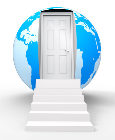 Bigger House Globe Means Moving Into A Larger Home For More Space. Desired Real Estate Ownership 3d Illustration