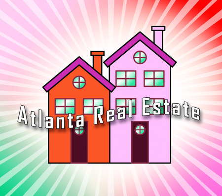 Atlanta Real Estate Icon Shows Property Investment In Georgia. United States Housing Market 3d Illustration